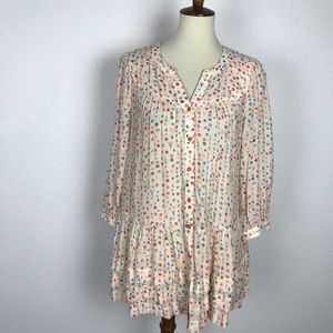 Anthropologie Maeve Paccia Button Down Tunic Top